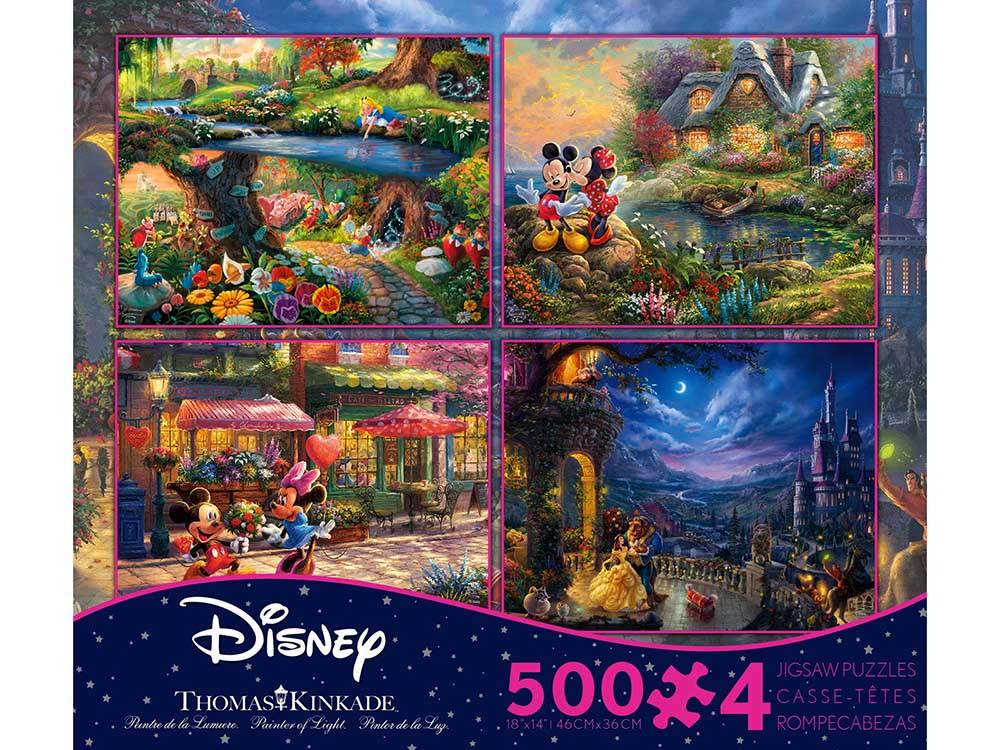 Thomas Kinkade Disney Mickey Minnie - Beauty & the Beast - Alice in Wonderland-Jedko-booksrusandmore