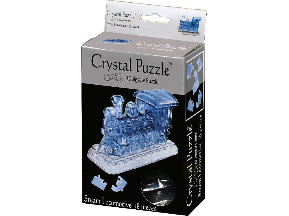 Crystal Puzzle 3D 38pc Steam Locomotive-Ventura Games-booksrusandmore