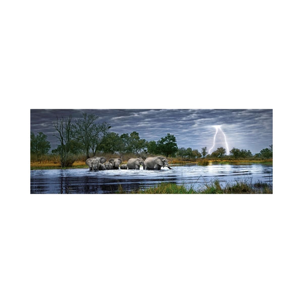 Heye Edition Humboldt 2000pc Puzzle Herd Of Elephants