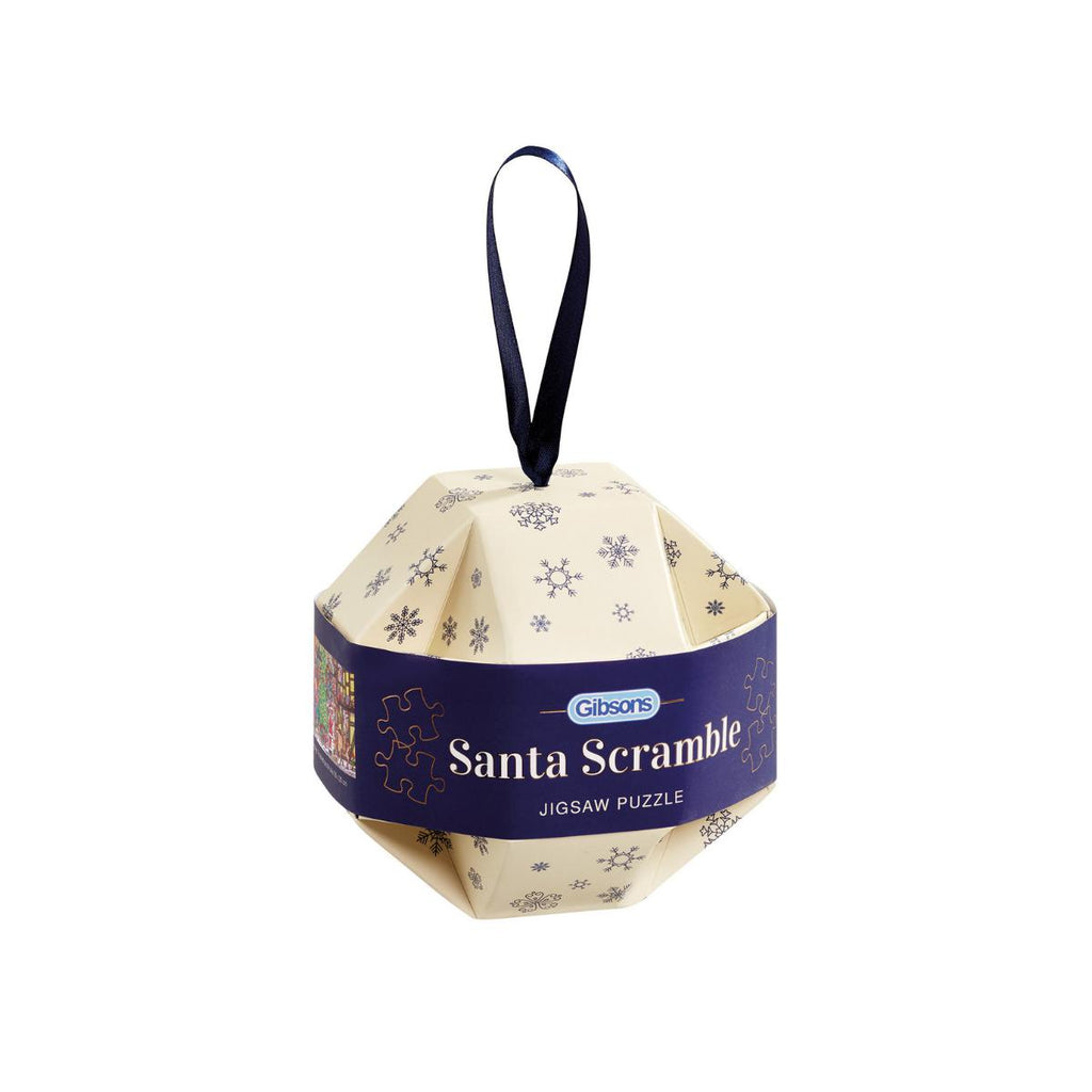 Gibsons 250pc Puzzle Santa Scramble Bauble-Gibsons-booksrusandmore