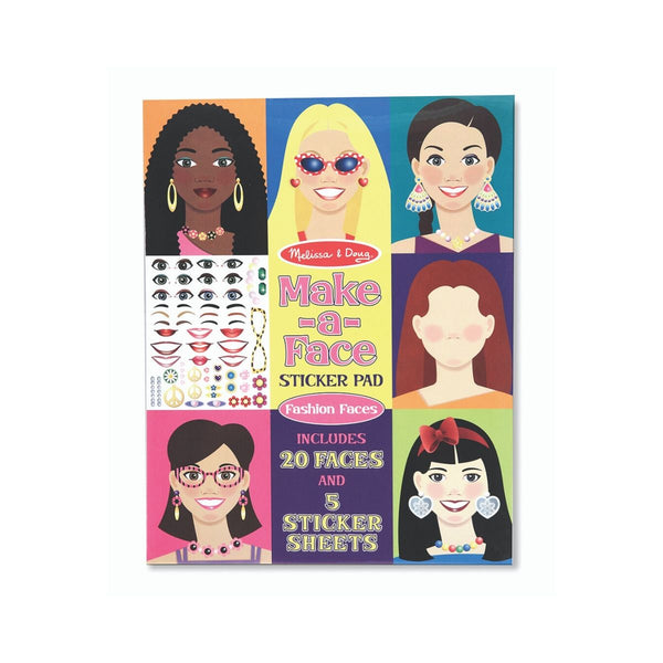 Melissa and DougMake-a-Face - Fashion Faces Sticker Pad