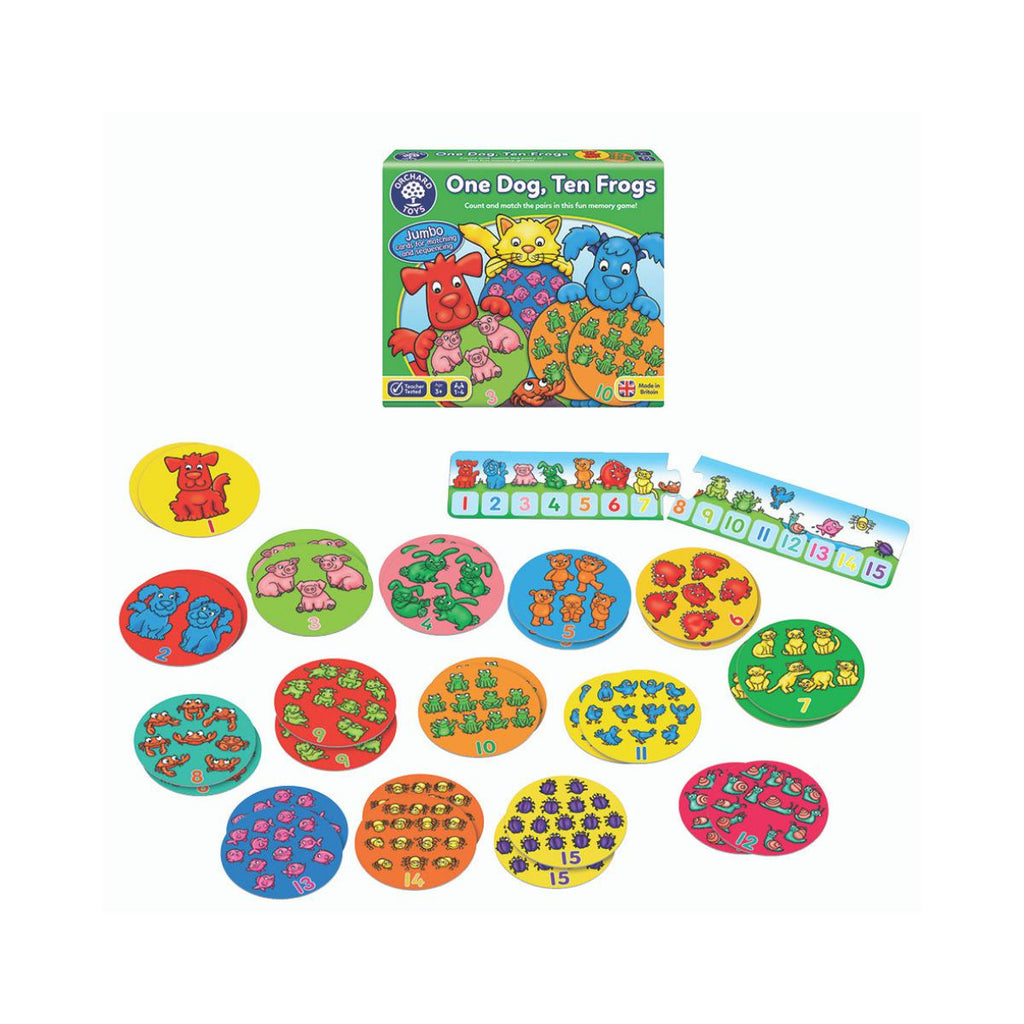 Orchard Toys One Dog, Ten Frogs-Modern Brands-booksrusandmore