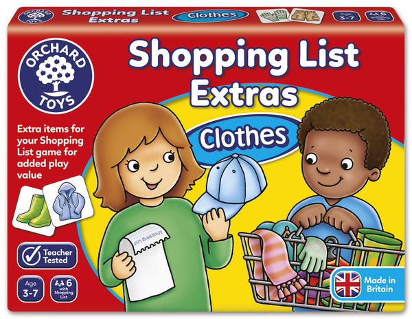 Orchard Toys Shopping List Extras Clothes-Modern Brands-booksrusandmore