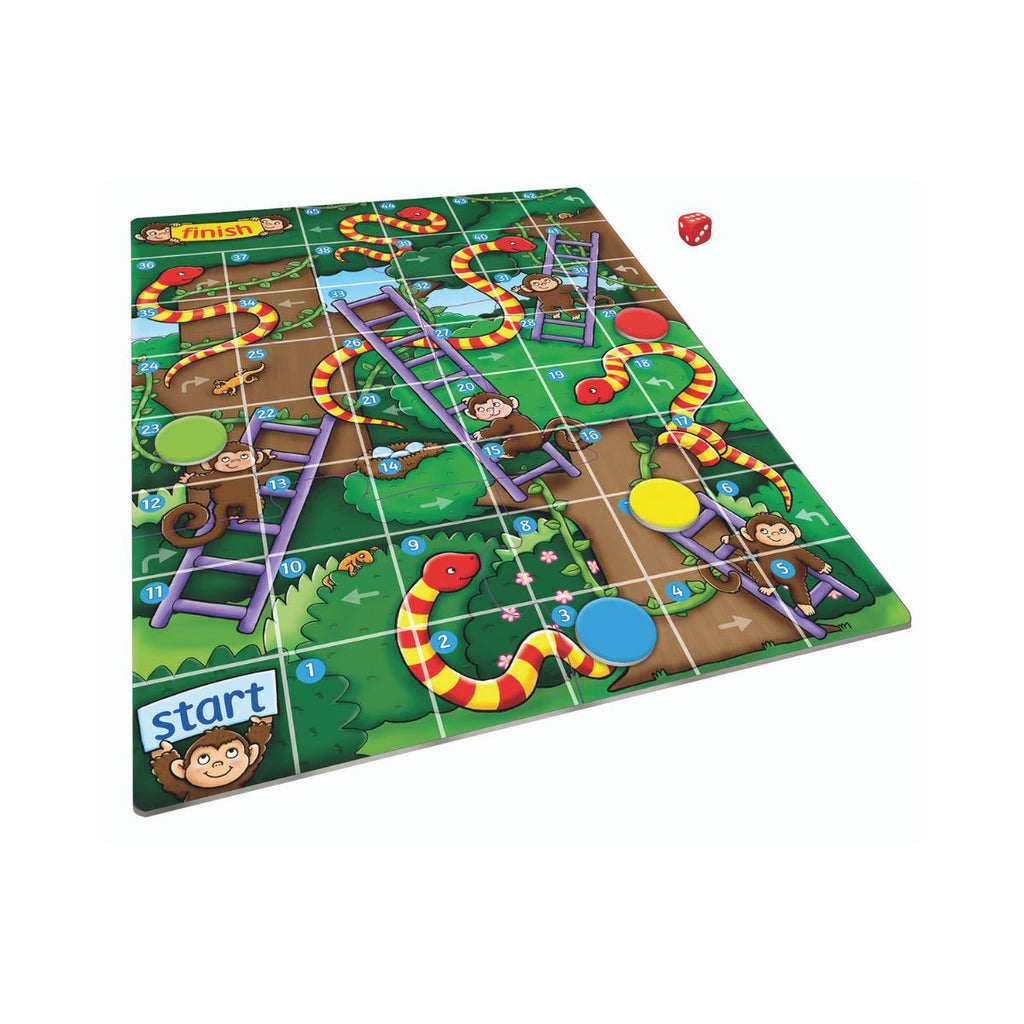 Orchard Toys mini games Jungle Snake and Ladders-Modern Brands-booksrusandmore