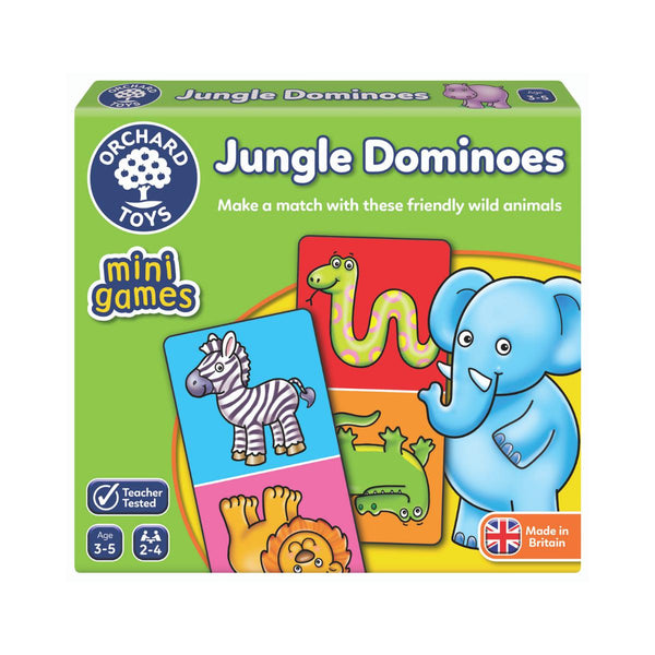 Orchard Toys mini games Jungle Dominoes-Modern Brands-booksrusandmore