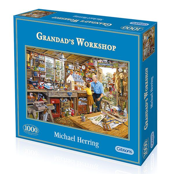 Gibsons 1000pc Puzzle Grandad's Workshop-Jedko-booksrusandmore