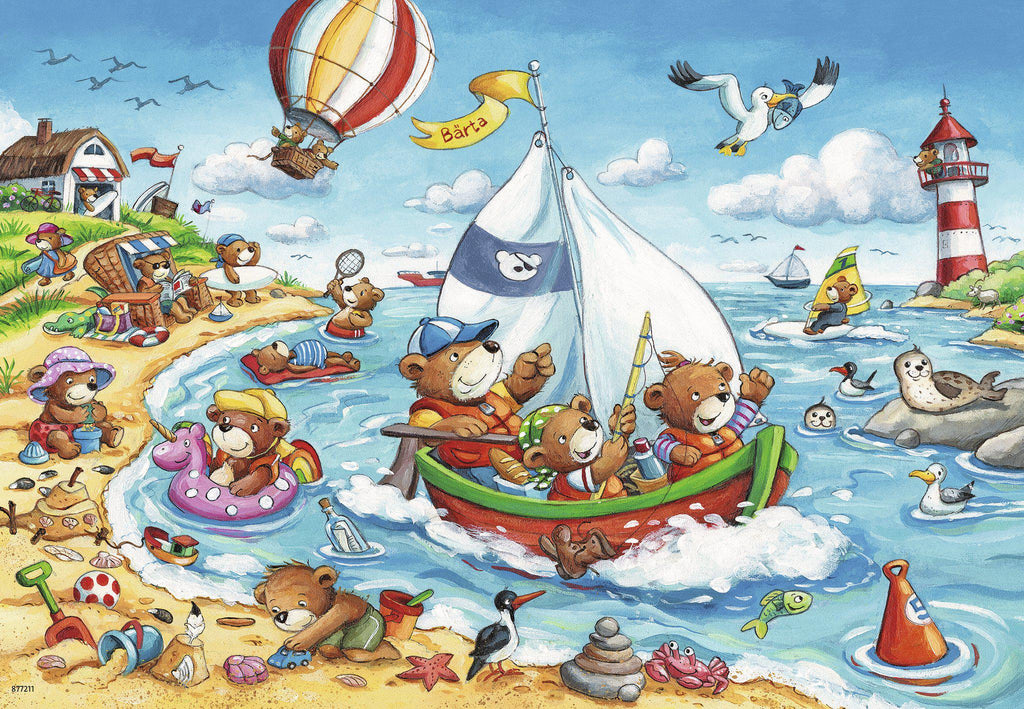 Ravensburger 2 x 24 pc Puzzles Seaside Holiday-Modern Brands-booksrusandmore