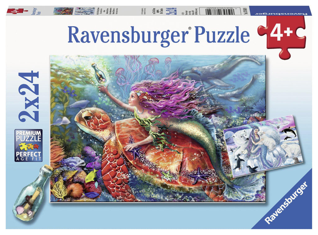 Ravensburger 2 x 24 pc Puzzles Mermaid Adventures-Modern Brands-booksrusandmore