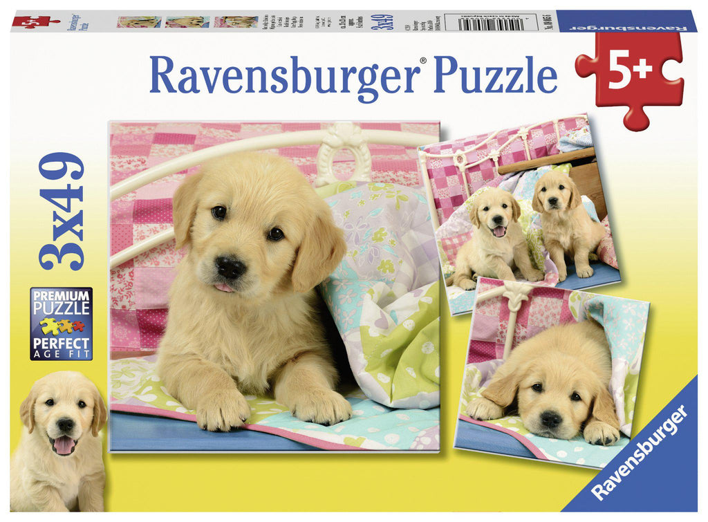 Ravensburger 3 x 49pc Puzzles Cute Puppy Dogs-Modern Brands-booksrusandmore