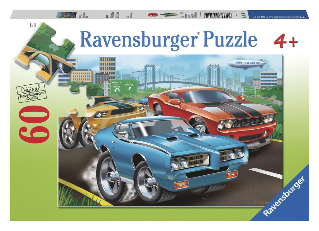 Ravensburger 60pc Puzzle Muscle Cars-Modern Brands-booksrusandmore