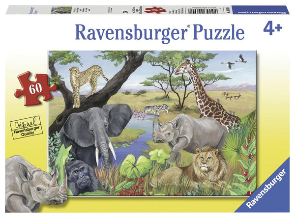 Ravensburger 60pc Puzzle Safari Animals-Modern Brands-booksrusandmore