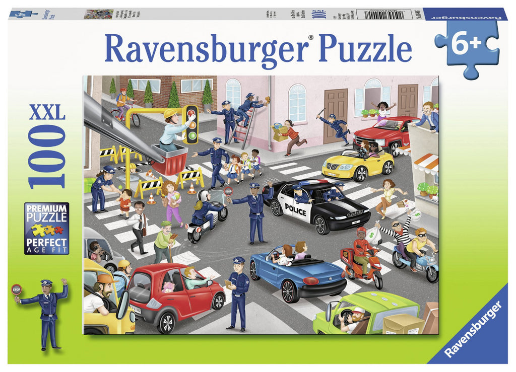 Ravenburger 100pc Puzzle Police On Patrol-Modern Brands-booksrusandmore