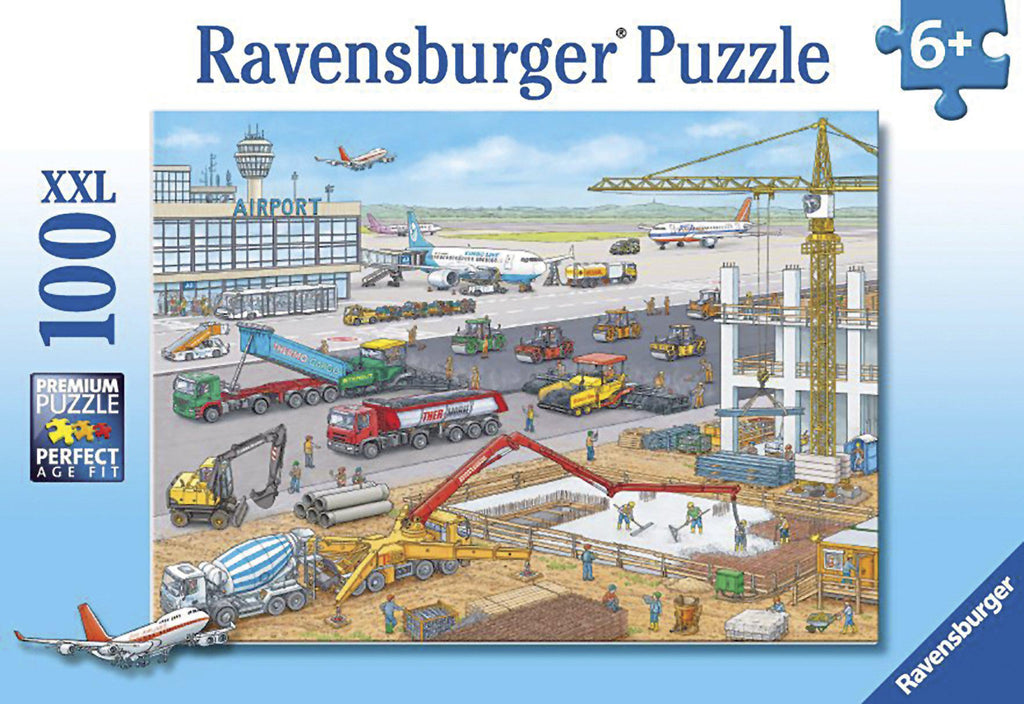 Ravensburger 100pc Puzzle Construction at the Airport-Ravensburger-booksrusandmore