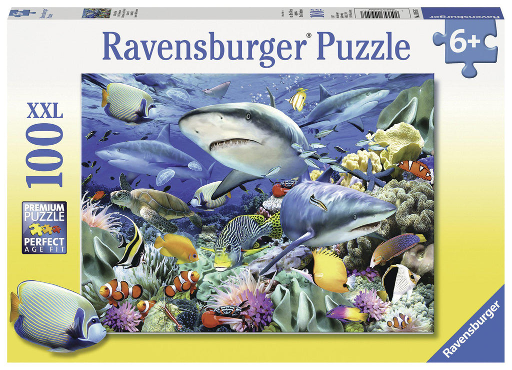 Ravensburger 100pc Puzzle Shark Reef-Ravensburger-booksrusandmore