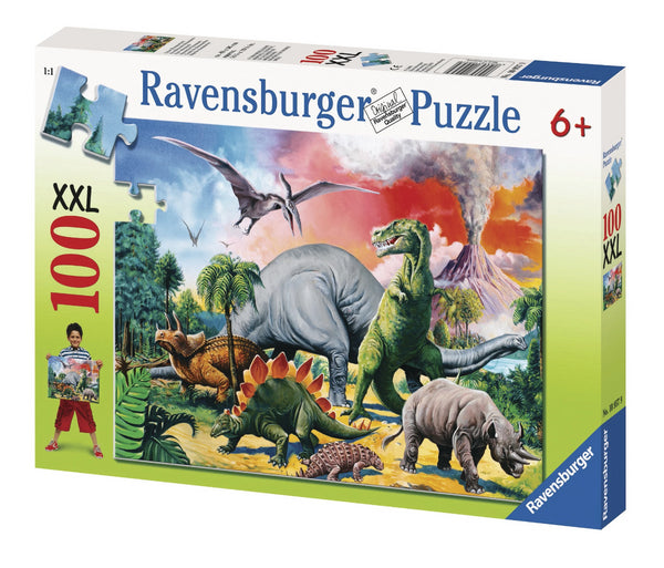 Ravensburger 100pc Puzzle Among the Dinosaurs-Modern Brands-booksrusandmore
