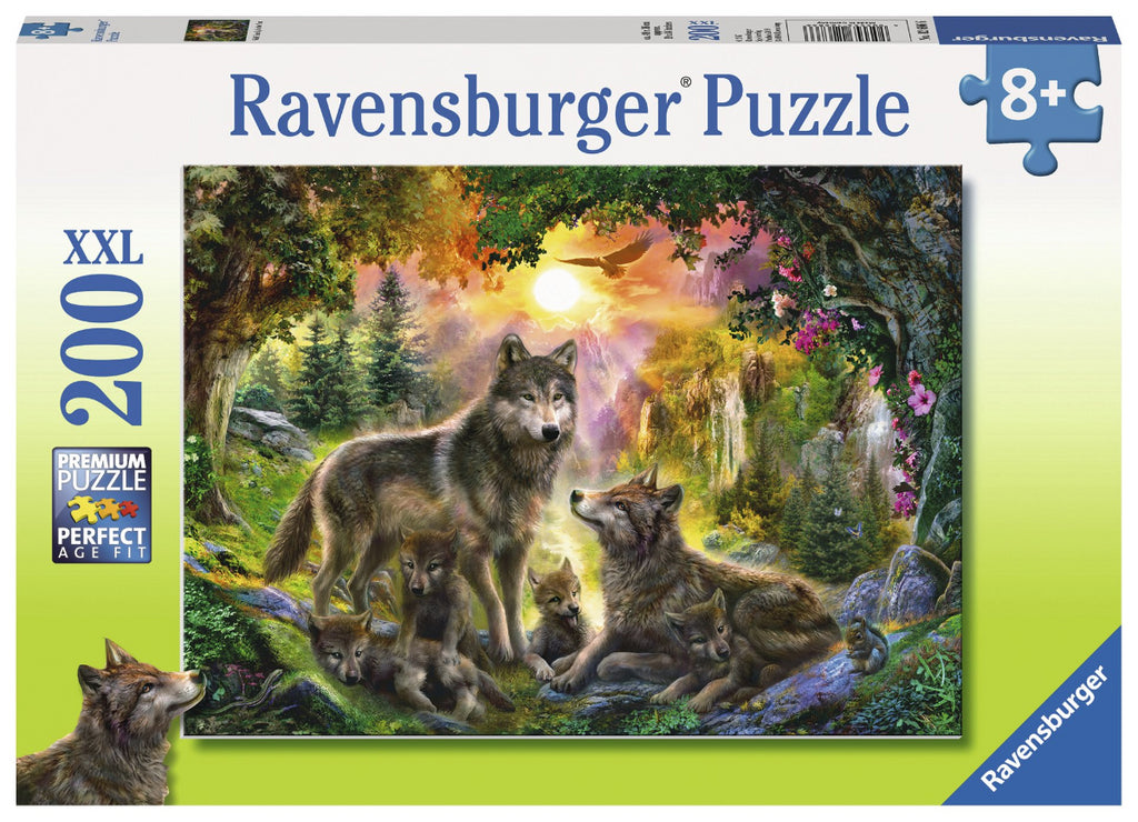 Ravensburger 200pc Puzzle Wolf Family in the Sun-Modern Brands-booksrusandmore