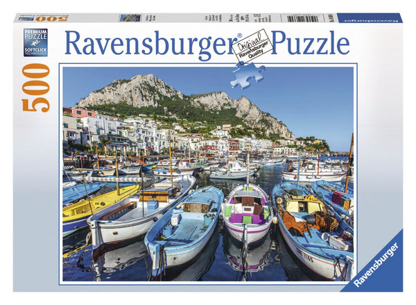 Ravensburger 500pc Puzzle Colorful Marina-Modern Brands-booksrusandmore