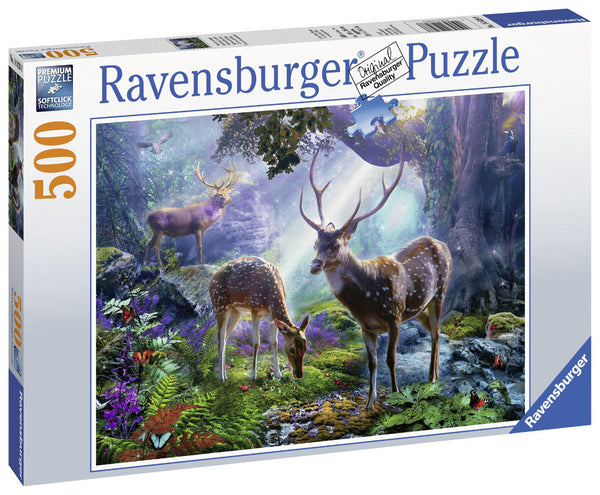 Ravensburger 500pc Puzzle Deer in the Wild-Modern Brands-booksrusandmore