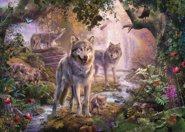 Ravensburger 1000pc Puzzle Summer Wolves-Modern Brands-booksrusandmore
