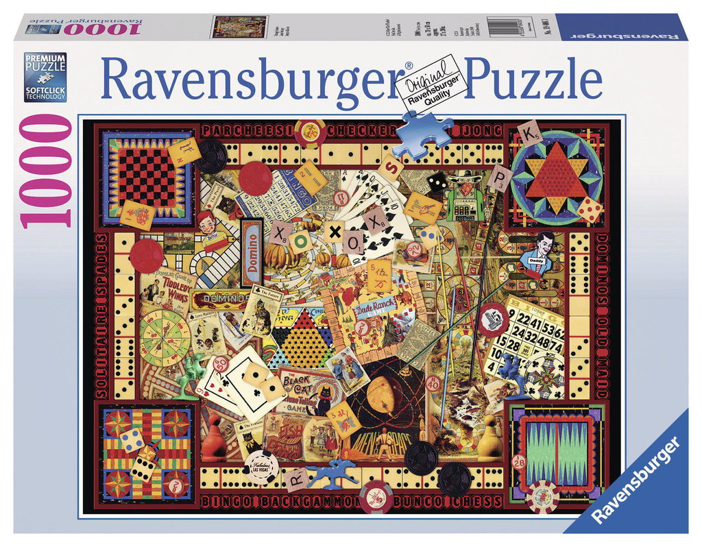 Ravensburger 1000 pc Puzzle Vintage Games-Modern Brands-booksrusandmore