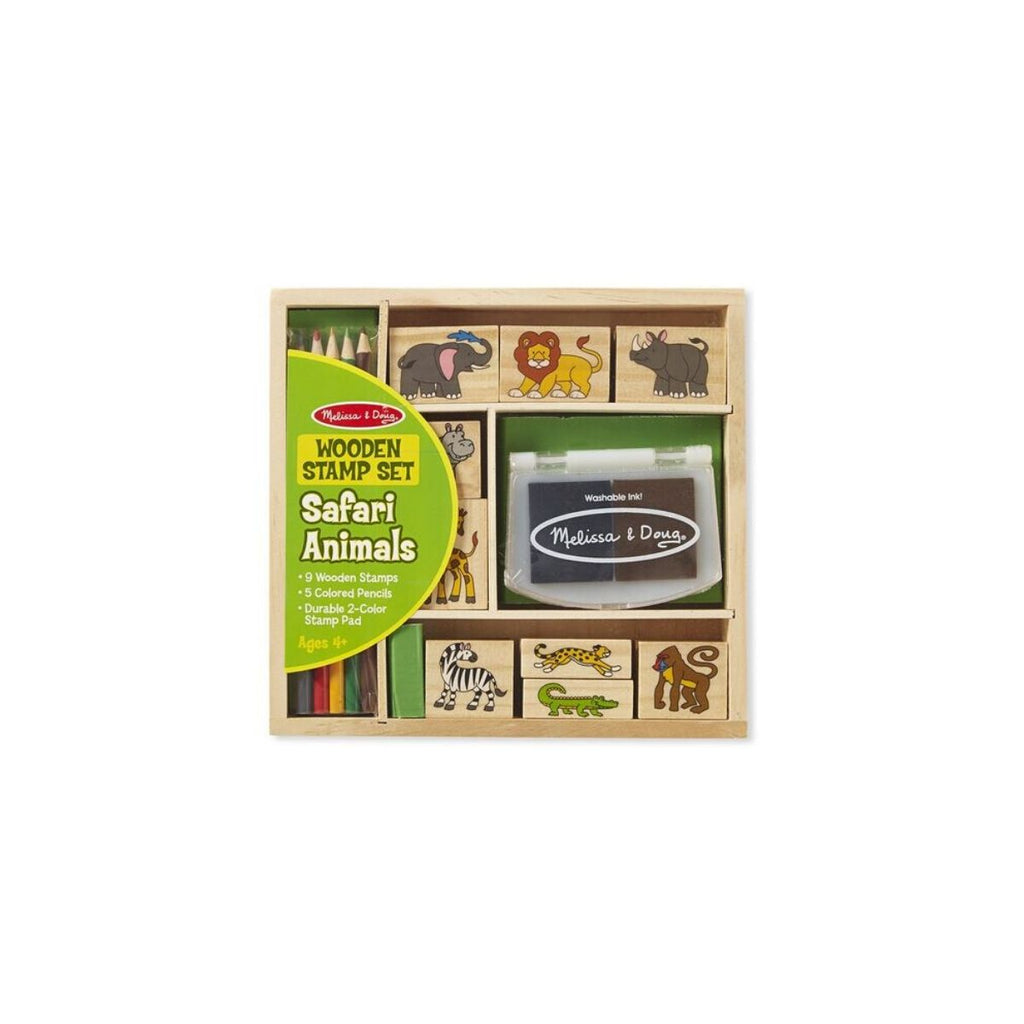 Melissa & Doug Wooden Stamp Set Safari Animals