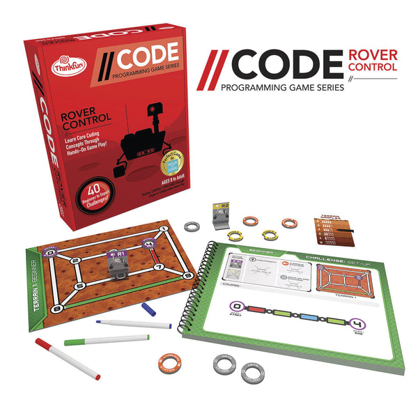 Thinkfun Code Programming Game Series Rover Control-Modern Brands-booksrusandmore