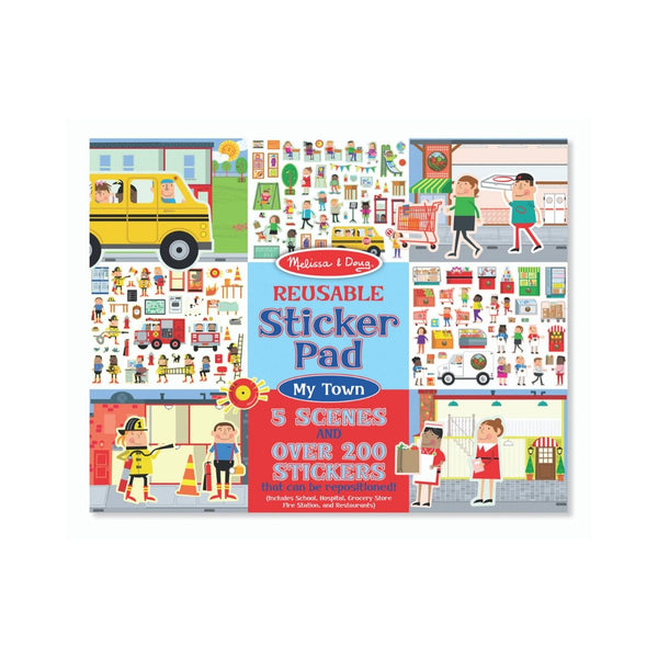 Melissa and Doug Reuseable Sticker Pad My Town
