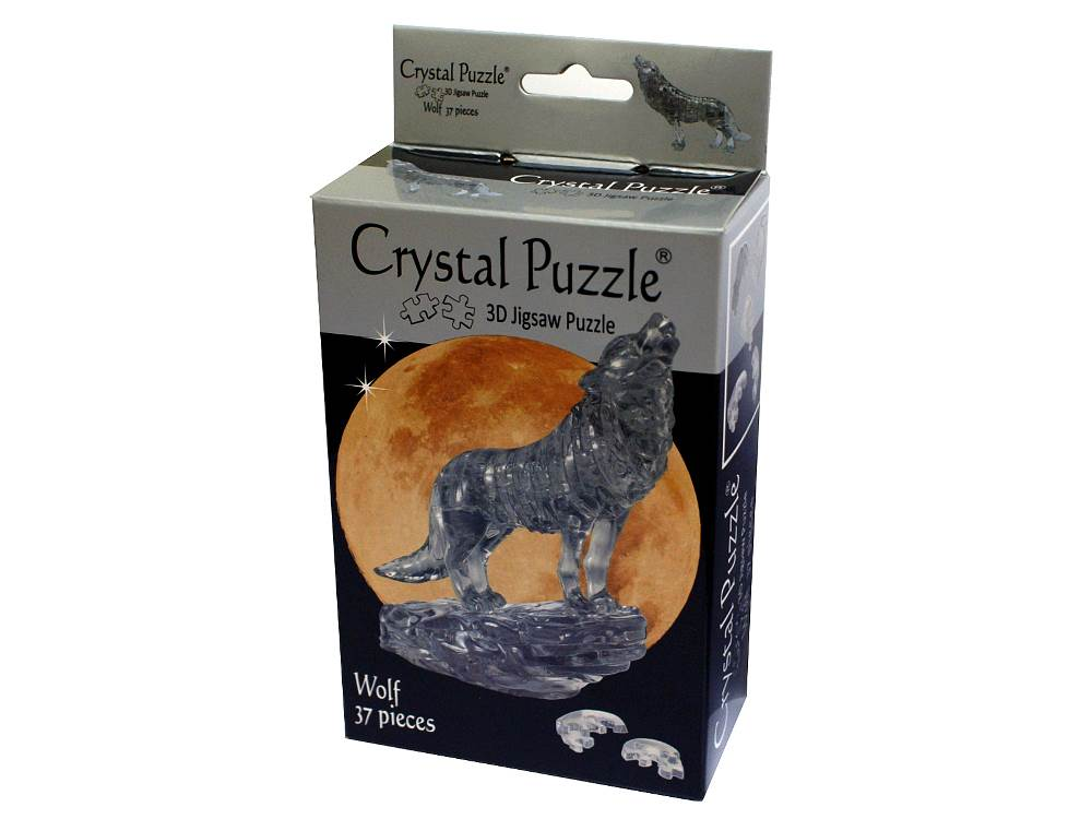 3D Crystal Puzzle Wolf 37 pieces-Jedko-booksrusandmore