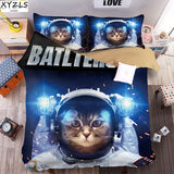 Space Cat Kids Bedding Set