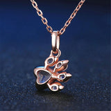 18K Rose Gold Paw Necklace