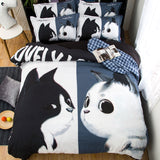 Black White Cats 3 Pieces Set