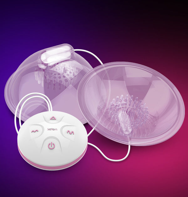 Leten® Breast Massager Vibrating Breast Enhancer Enlargement Pump Suction Cups Sex Toys for Women