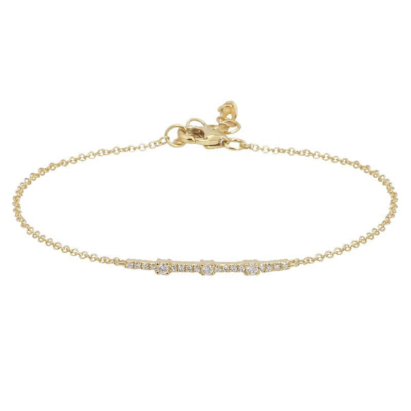 Accented Diamond Line Bracelet