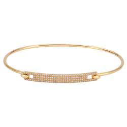 Pave Diamond ID Bangle