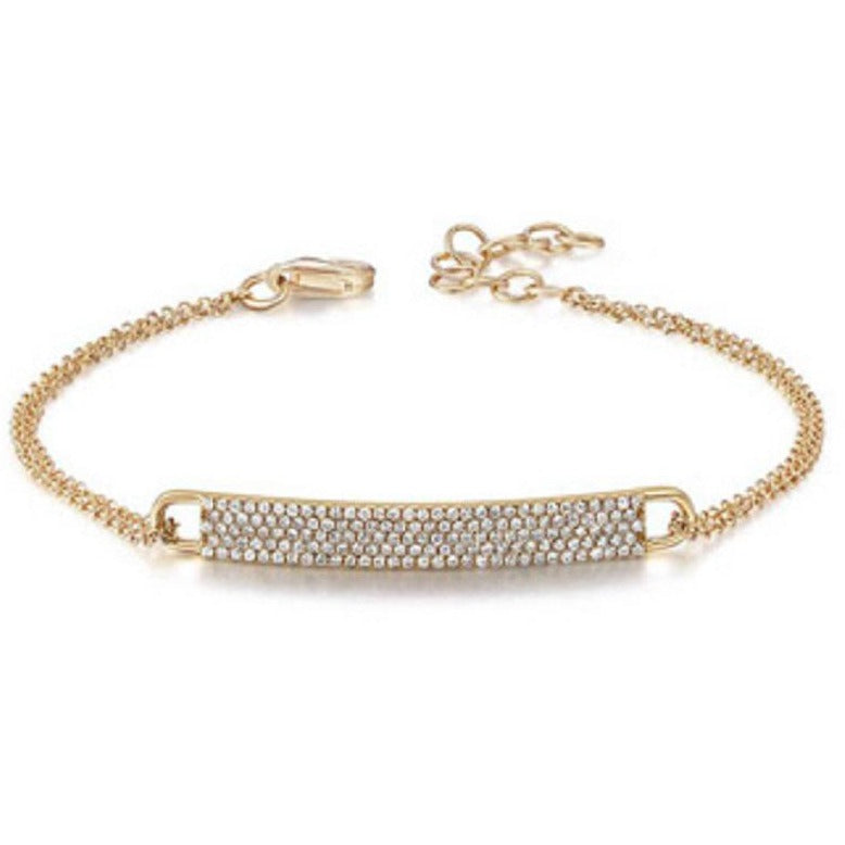 Diamond ID bar bracelet
