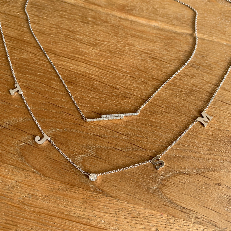 Traditional Initial Necklace