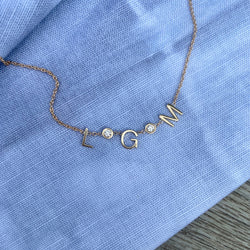 Diamond Spacer Necklace