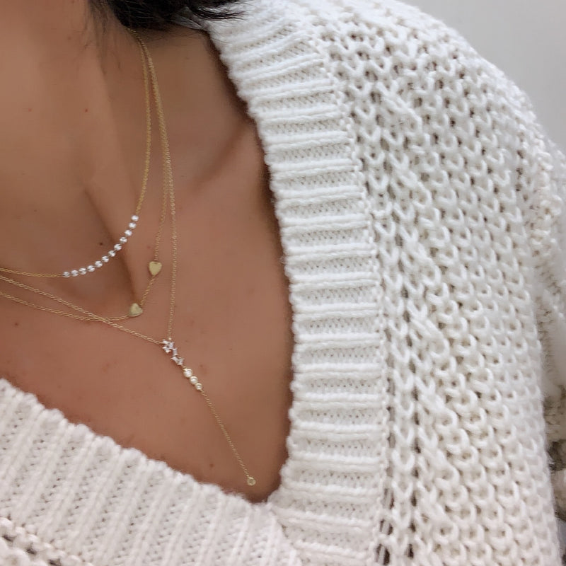 Invisible Set Multi Diamond Necklace