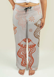 Ladies Pajama Pants with Jellyfish