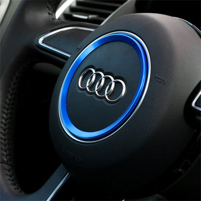 Audi Steering Wheel Ring Mod (Red, Blue, Silver)