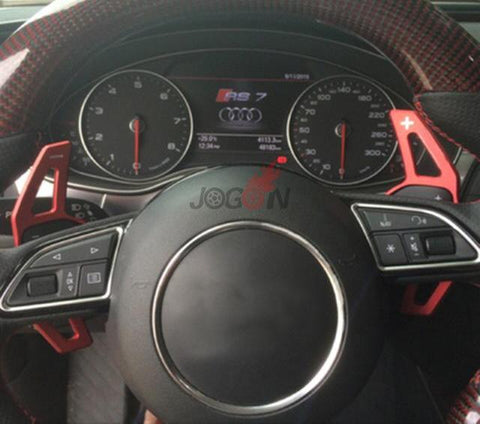 Audi Upgraded Steel Paddle Shifters (Red or Silver)