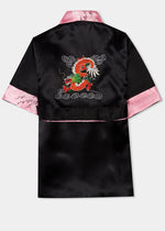 Reverse back with large multicoloured dragon embroidery