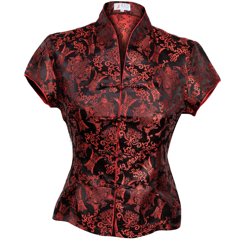 Chinese Blouse Black/Red