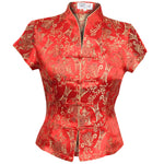 Chinese Blouse Red