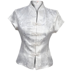 Chinese Blouse Ivory