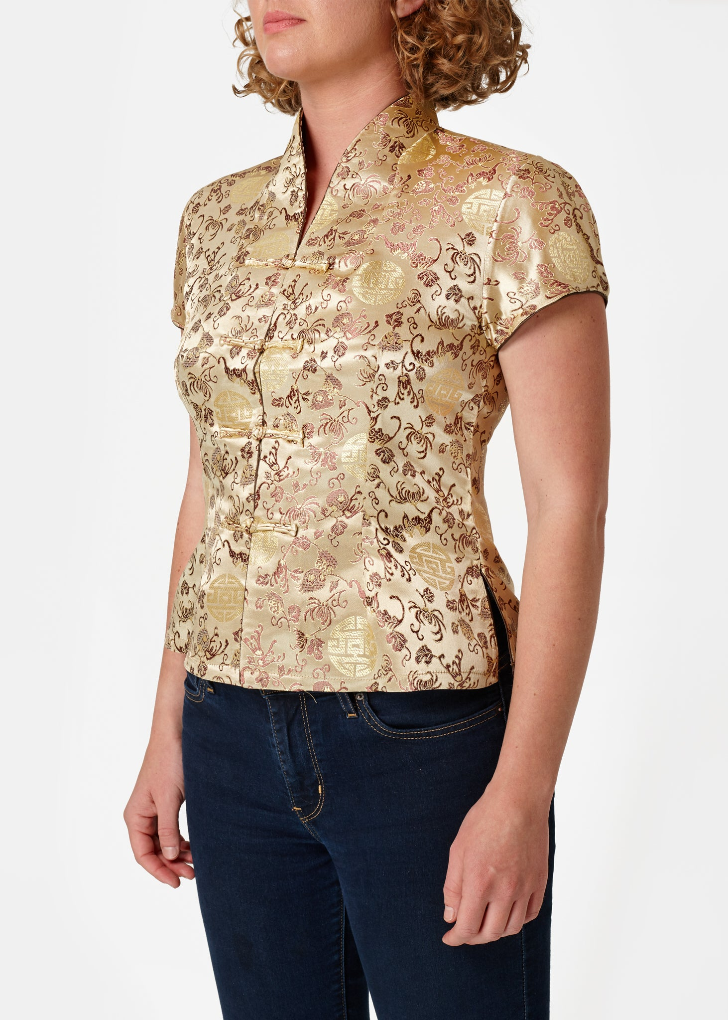 Chinese Blouse Gold