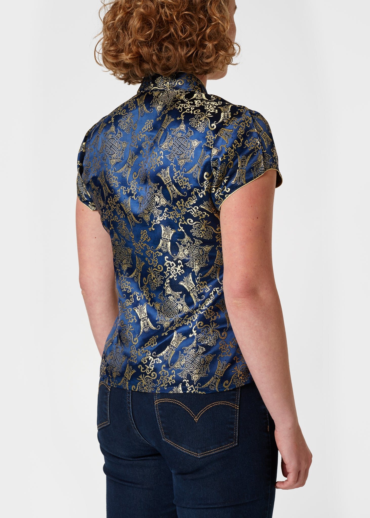 Chinese Blouse Blue