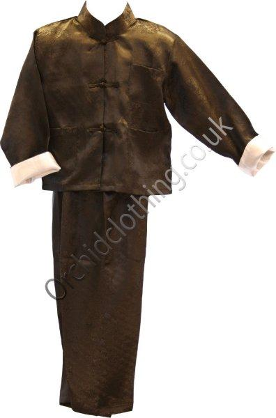 Childs Kung Fu Suit Black