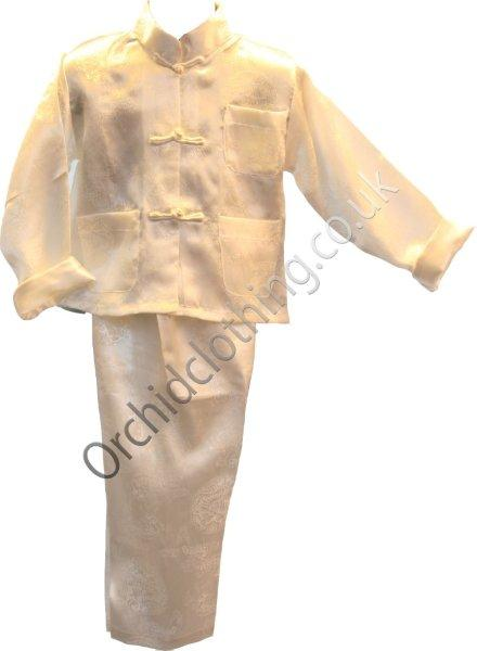 Childs Kung Fu Suit Ivory