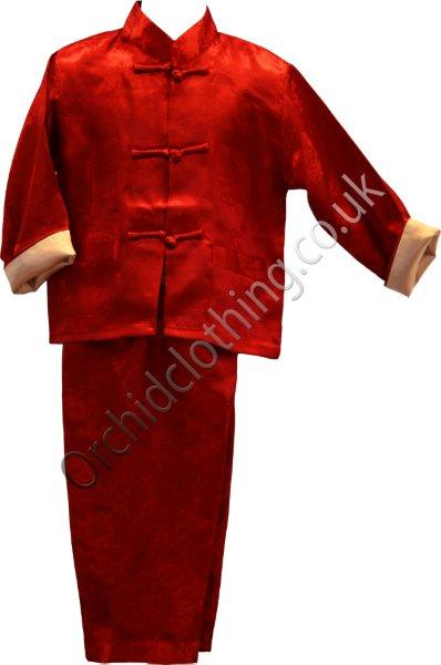 Childs Kung Fu Suit Red